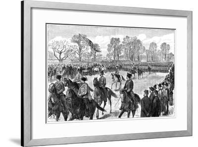 Review in Windsor Great Park of the Troops from the Ashanti War, 1900-G Durand-Framed Giclee Print