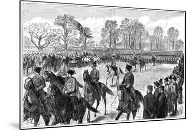 Review in Windsor Great Park of the Troops from the Ashanti War, 1900-G Durand-Mounted Giclee Print