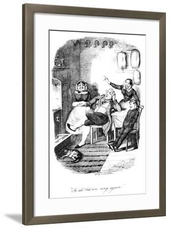Oh Ah! Let 'Em Ring Again!, C1840S-George Cruikshank-Framed Giclee Print