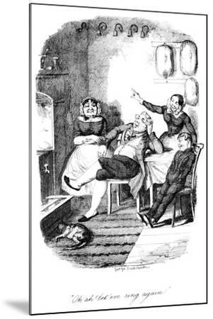 Oh Ah! Let 'Em Ring Again!, C1840S-George Cruikshank-Mounted Giclee Print