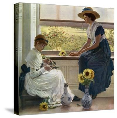 Sun and Moon Flowers, 1890-George Dunlop Leslie-Stretched Canvas Print