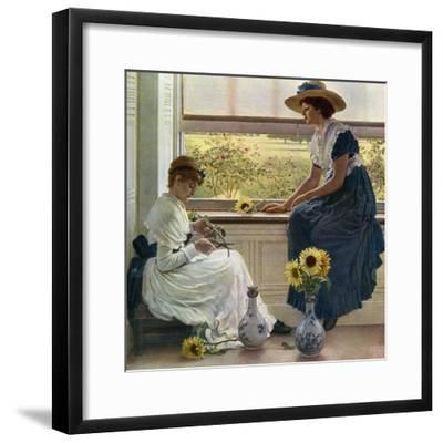 Sun and Moon Flowers, 1890-George Dunlop Leslie-Framed Giclee Print