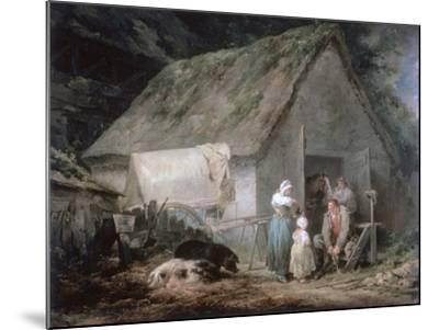 Morning: Higglers Preparing for Market, 1791-George Morland-Mounted Giclee Print