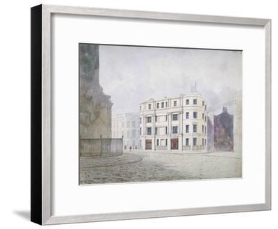 View to the South at the West End of King William Street, City of London, 1850-Frederick Napoleon Shepherd-Framed Giclee Print