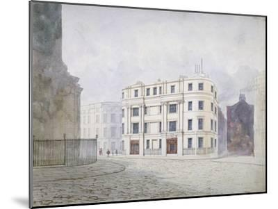 View to the South at the West End of King William Street, City of London, 1850-Frederick Napoleon Shepherd-Mounted Giclee Print