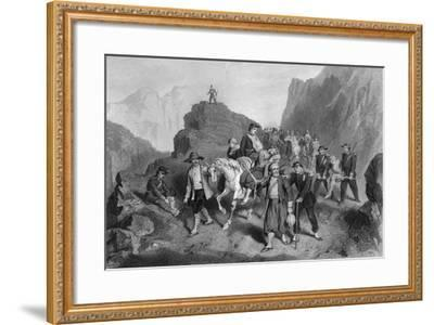 Removal of Wounded Soldiers from the Field of Battle, Crimean War-G Greatbach-Framed Giclee Print