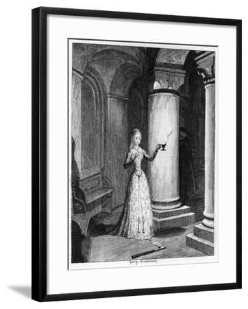 Queen Jane's First Night in the Tower, 1553-George Cruikshank-Framed Giclee Print