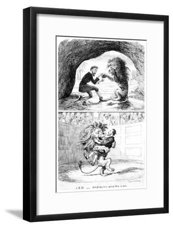 Leo - Androcles and the Lion, 19th Century-George Cruikshank-Framed Giclee Print