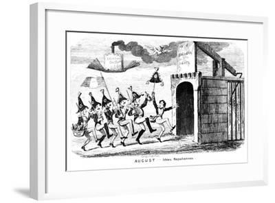 August - Idees Napoliennes, 19th Century-George Cruikshank-Framed Giclee Print