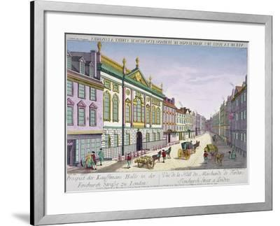 The New Ironmongers Hall in Fenchurch Street, City of London, 1750-George Godofroid Winkler-Framed Giclee Print