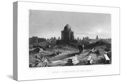 Ruins South Side of Old Delhi, India, 19th Century-G Hamilton-Stretched Canvas Print