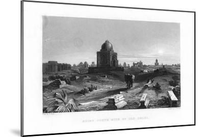 Ruins South Side of Old Delhi, India, 19th Century-G Hamilton-Mounted Giclee Print