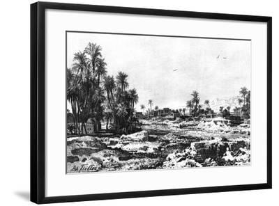 Borough of Karnak, Egypt, 1881-G Heuer-Framed Giclee Print