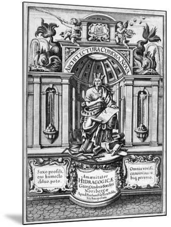 Front Page of Architectura Curiosa Nova, 1664-Georg Andreas Bockler-Mounted Giclee Print