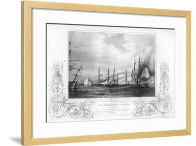 The Bombardment of Odessa, Ukraine, During the Crimean War, 1854-George Greatbatch-Framed Giclee Print