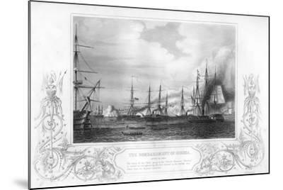 The Bombardment of Odessa, Ukraine, During the Crimean War, 1854-George Greatbatch-Mounted Giclee Print