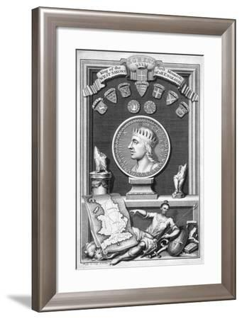 Egbert the Saxon, First King of All England-George Vertue-Framed Giclee Print