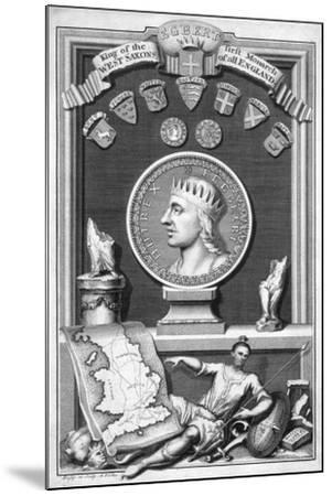 Egbert the Saxon, First King of All England-George Vertue-Mounted Giclee Print