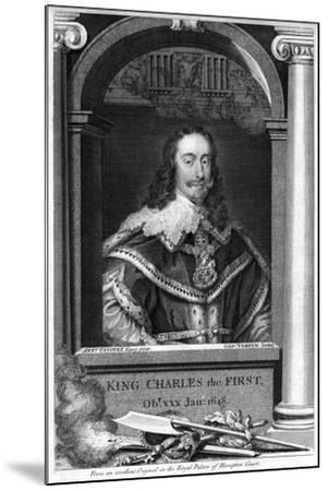 Charles I of England-George Vertue-Mounted Giclee Print