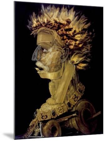 Fire, 1566-Giuseppe Arcimboldi-Mounted Giclee Print