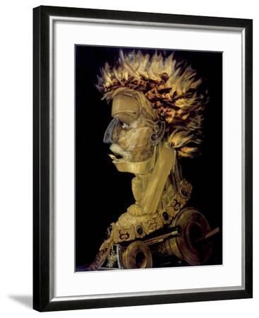 Fire, 1566-Giuseppe Arcimboldi-Framed Giclee Print