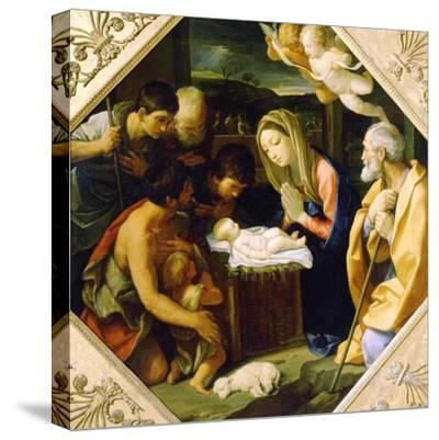 The Adoration of the Christ Child, C1640-Guido Reni-Stretched Canvas Print