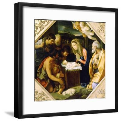 The Adoration of the Christ Child, C1640-Guido Reni-Framed Giclee Print