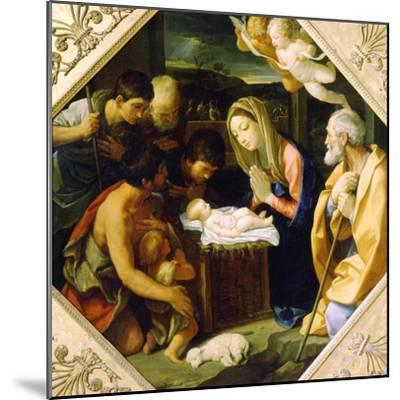 The Adoration of the Christ Child, C1640-Guido Reni-Mounted Giclee Print