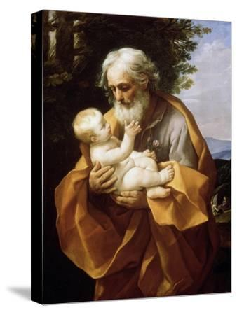 Saint Joseph with Infant Christ, 1620S-Guido Reni-Stretched Canvas Print
