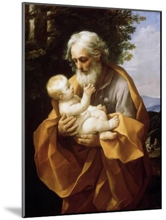 Saint Joseph with Infant Christ, 1620S-Guido Reni-Mounted Giclee Print