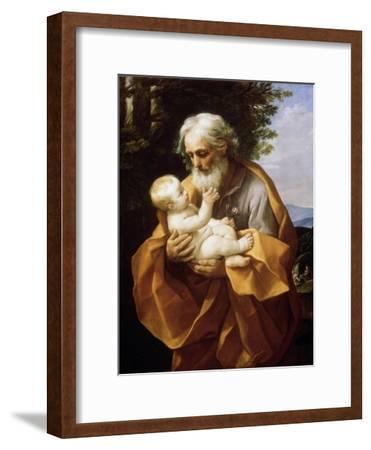 Saint Joseph with Infant Christ, 1620S-Guido Reni-Framed Giclee Print