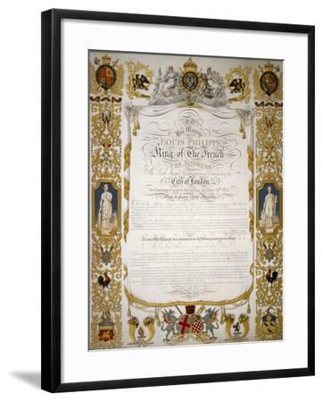 Illuminated Address from the Corporation of London to Louis Philippe of France, 1844-H Dowse-Framed Giclee Print