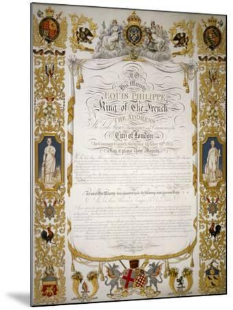 Illuminated Address from the Corporation of London to Louis Philippe of France, 1844-H Dowse-Mounted Giclee Print