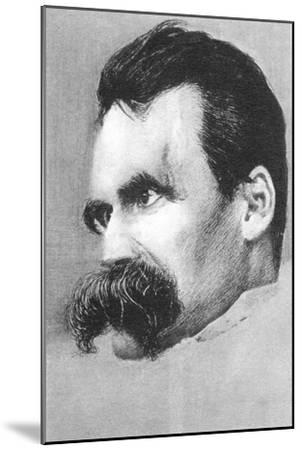 Friedrich Wilhelm Nietzsche, German Philospher and Writer-Hans Olde-Mounted Giclee Print