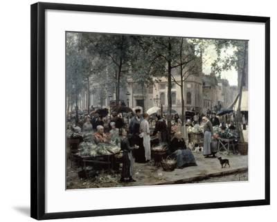 Les Halles, Paris 'Central Market', 1880-Gilbert Victor Gabriel-Framed Giclee Print