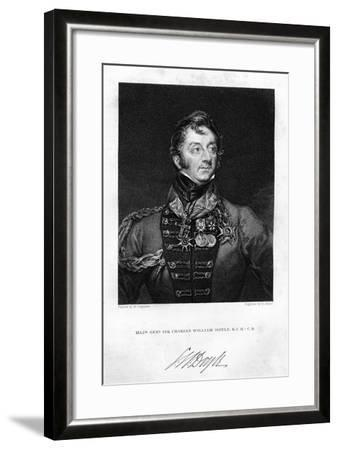 Sir Charles Hastings Doyle (1804-188), British Soldier, 1837-H Mayer-Framed Giclee Print