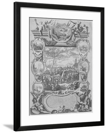 Rebels Captured During the Jacobite Rebellion Being Brought Imprisoned to London, 1715-H Terasson-Framed Giclee Print