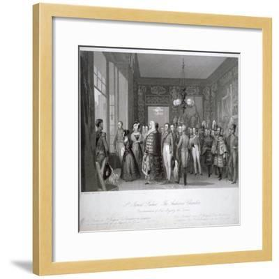 People in the The Audience Chamber in St James's Palace, Westminster, London, 1837-Harden Sidney Melville-Framed Giclee Print