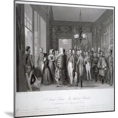 People in the The Audience Chamber in St James's Palace, Westminster, London, 1837-Harden Sidney Melville-Mounted Giclee Print