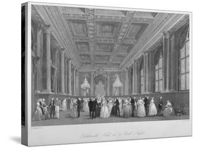 Interior View of the Goldsmiths' Hall on a Ball Night, City of London, 1840-Harden Sidney Melville-Stretched Canvas Print