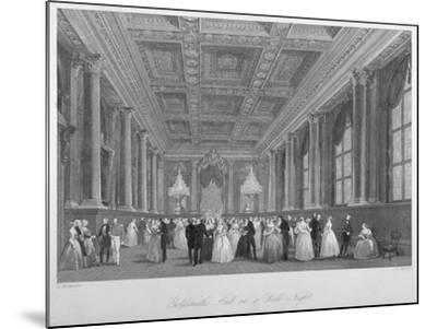 Interior View of the Goldsmiths' Hall on a Ball Night, City of London, 1840-Harden Sidney Melville-Mounted Giclee Print