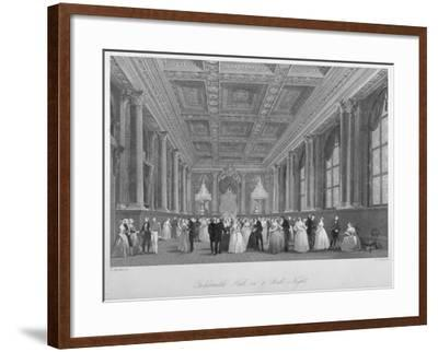 Interior View of the Goldsmiths' Hall on a Ball Night, City of London, 1840-Harden Sidney Melville-Framed Giclee Print