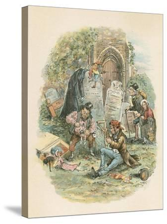 Scene from the Old Curiosity Shop by Charles Dickens, 1841-Hablot Knight Browne-Stretched Canvas Print