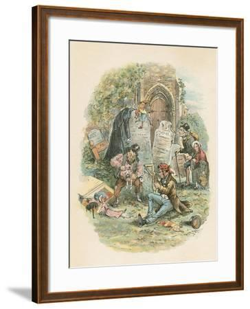 Scene from the Old Curiosity Shop by Charles Dickens, 1841-Hablot Knight Browne-Framed Giclee Print