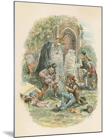 Scene from the Old Curiosity Shop by Charles Dickens, 1841-Hablot Knight Browne-Mounted Giclee Print