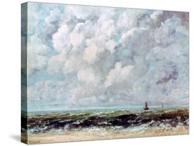 Marine Landscape, C1840-1877-Gustave Courbet-Stretched Canvas Print