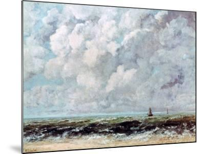 Marine Landscape, C1840-1877-Gustave Courbet-Mounted Giclee Print
