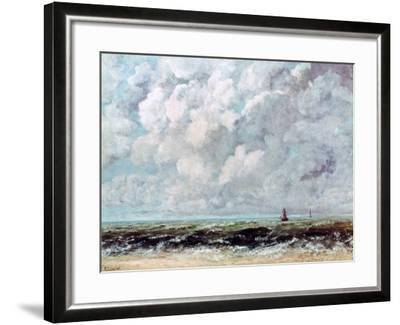 Marine Landscape, C1840-1877-Gustave Courbet-Framed Giclee Print