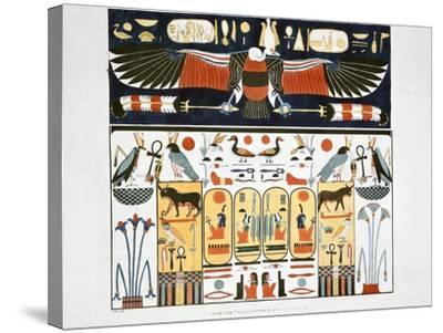 Mural from the Tombs of the Kings at Thebes, 1820-Giovanni Battista Belzoni-Stretched Canvas Print