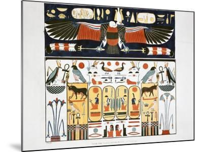 Mural from the Tombs of the Kings at Thebes, 1820-Giovanni Battista Belzoni-Mounted Giclee Print